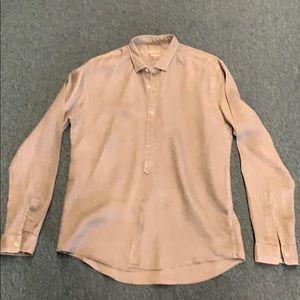 Zara Man slim fit linen dress shirt